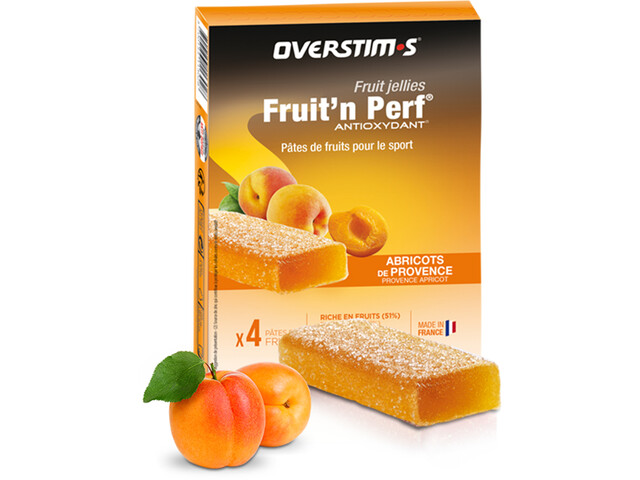 OVERSTIM.s Fruit'N Perf Antioxydant Bar Box 4x25g Apricot
